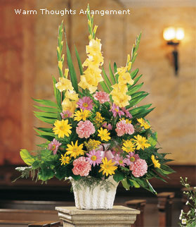 Warm Thoughts Sympathy Flower Arrangement